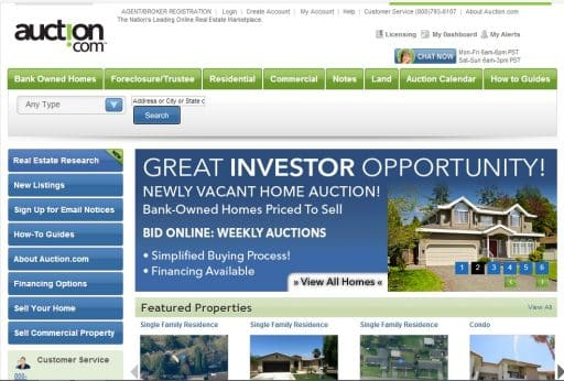 Auction.com website by Hull Financial Planning