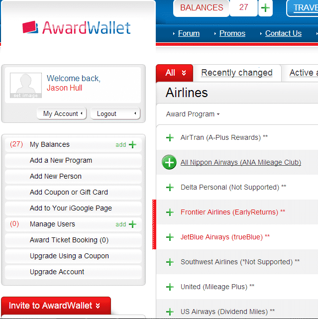 AwardWallet by Hull Financial Planning