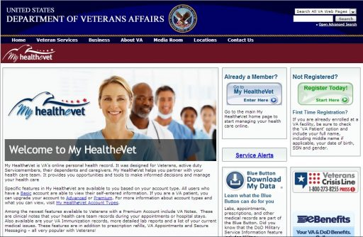 My HealtheVet Home Page