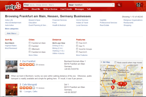 Yelp Germany by Hull Financial Planning